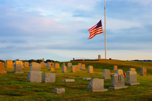 sunset usa cemetery graveyard canon virginia flag americanflag canon50mmf18 usflag halfmast halfstaff christiansburg niftyfifty christiansburgva sunsetcemetery canont1i nomorenames
