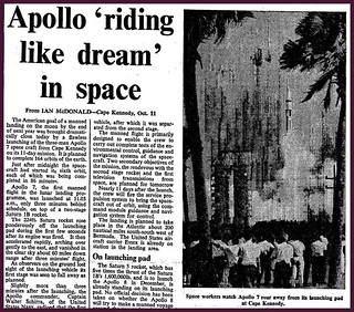 11th October 1968 - Apollo 7 launched | by Bradford Timeline