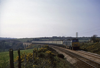 APR 74 24. An unidentified Class 52 crosses a viaduct between Chacewater and Truro with the 14:40 Penzance-Paddington, April 17 1974 | by Andy Kirkham