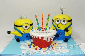 Superb Minions Birthday Cake Christine Pereira Flickr Funny Birthday Cards Online Fluifree Goldxyz