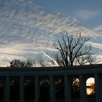 Setting sun in Arlington Cemetary
