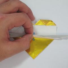 วิธีพับกระดาษเป็นรูปหัวใจติดปีก (Heart Wing Origami) 025