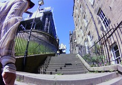 stairs up to Royal Mile, Edinburgh