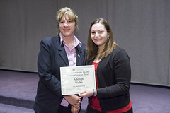 Public Health Epidemiology Student Excellence Award presented to Ashleigh Welko by Sara Paton
