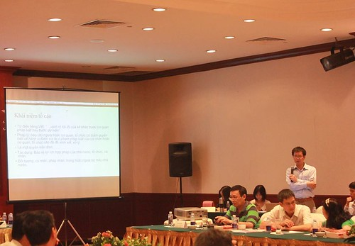 Mr. Nguyen Cong Giao presents about whistleblower protection mechanism | by towardstransparency_vn