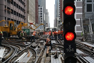Loop Track Renewal Work - Tower 18   by Chicago Transit Authority