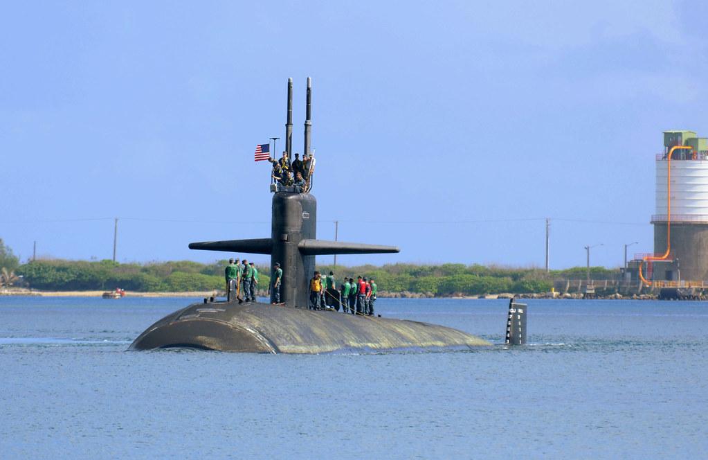 USS Albuquerque arrives in Apra Harbor, Guam.