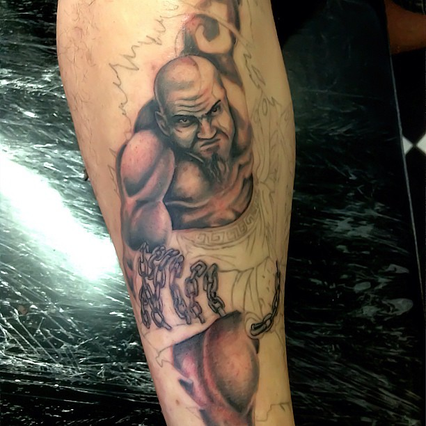 Em Progresso Kratos Tattoo Kratostattoo Tatuagem Gugo