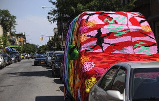 Olek's Crocheted van in Williamsburg for Absolut's Open Canvas | by MichaelTapp