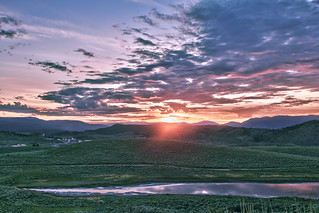 Sunset over Kamloops, British Columbia   by moonstream