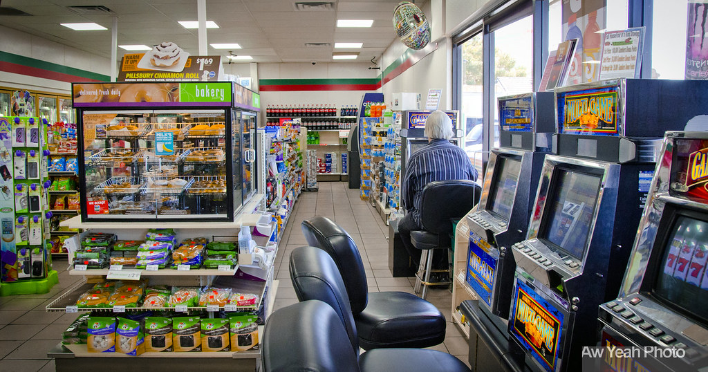 Slot machines in convenience stores
