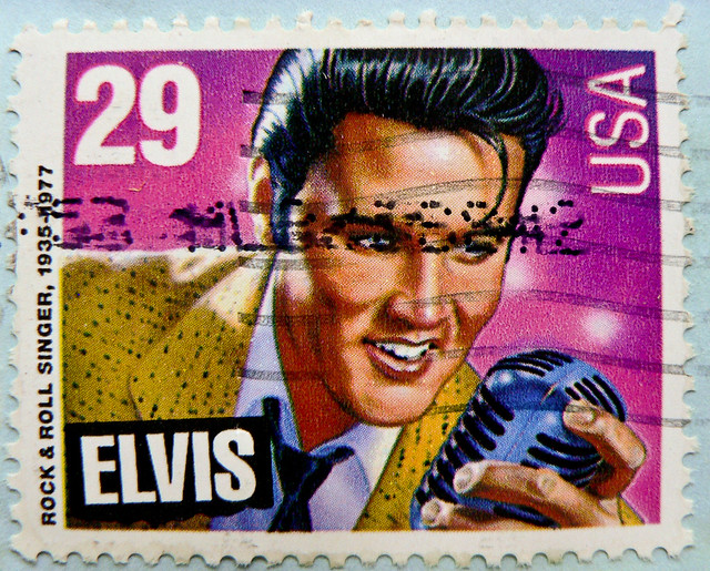 *in memory* great stamp USA 29c Elvis Presley (Jan-8th-1935 - Aug-16th-1977; Rock'n Roll Singer, actor; Memphis, Tennessee; Graceland) United States postes timbre selos sellos USA francobolli postzegels USA 郵便切手 切手  アメリカ postage 切手 Briefmarke USA bolli