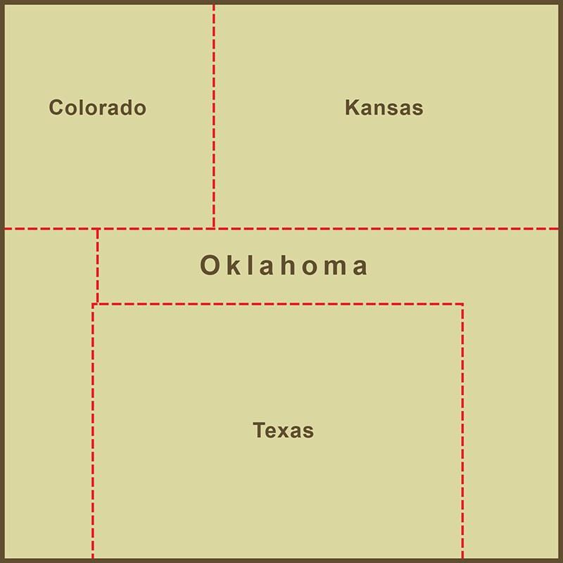 A Map of the Strange, Slavery-defined Border of Oklahoma\'s ...