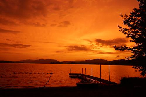 sunset inlet ny twilight fourthlake sunsetbeach