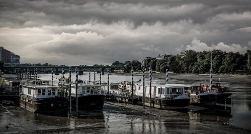 bridge summer panorama tree london water thames clouds 35mm reflections river boat nikon shadows desaturated split nikkor f18 tone putney splittone lr6 d7100 nikkor35mmf18