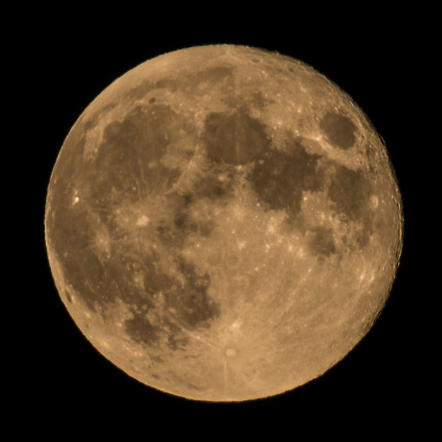 Full moon in Sturmer, Uk, October 2013