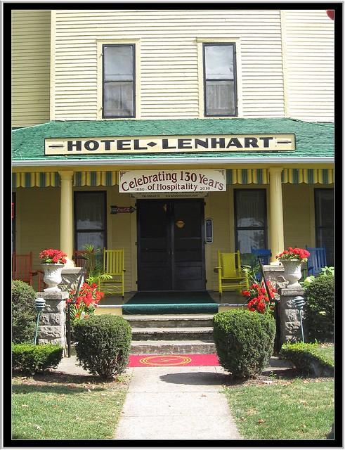 Hotel Lenhart ~ Bemus Point NY ~ Historic Hotel ~ Entrance