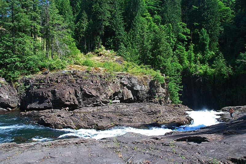 Elk Falls Provincial Park, Campbell River, Vancouver Island, British Columbia, Canada