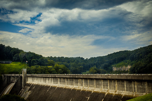 trees sky lake green nature clouds landscape moody dam tennessee flag grunge norris