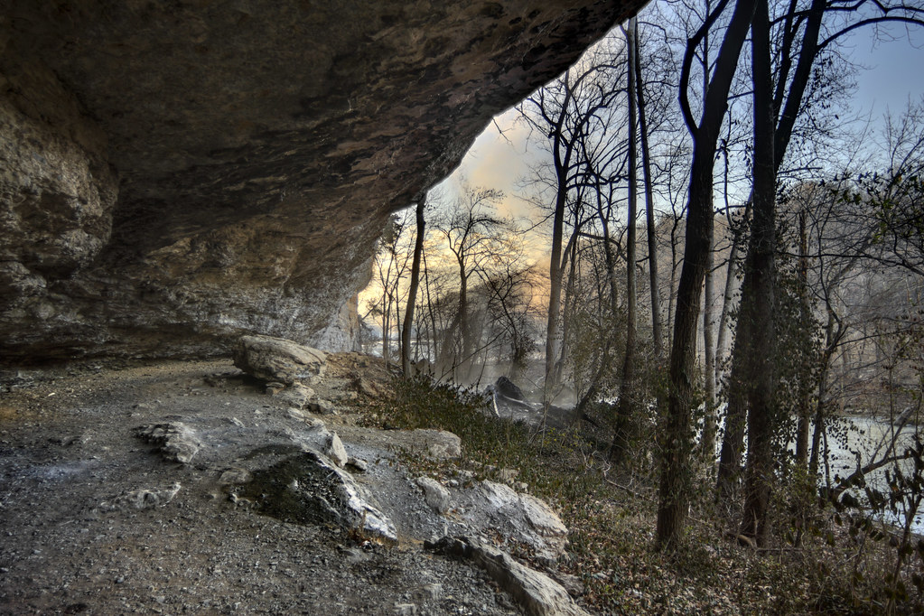 Rock shelter, Fort Payne Formation, Rock Island State Park, White County, Tennessee