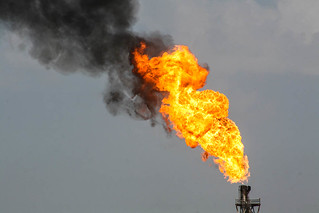 Gas Flaring, Halfaya Oilfield, Iraq | by Earth & Marine Environmental Consultants (EAME)