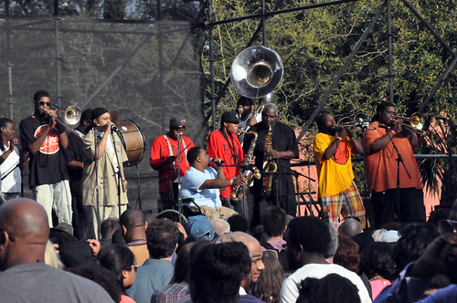 The Hot 8 Brass Band at the Congo Square New World Rhythms Festival 2014.  Photo by Kichea S Burt.