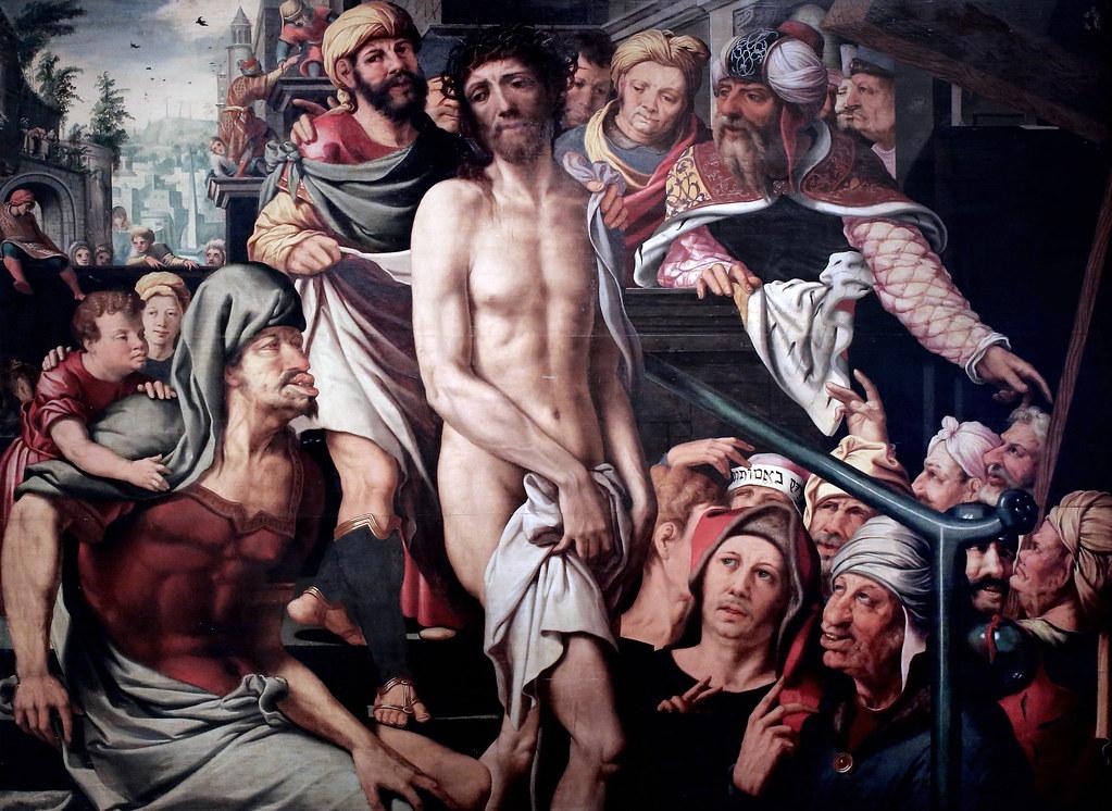 IMG_8657F Jan Van Sanders van Hemessen. 1500-1575. Haarlem.  Ecce Homo. Douai. Musée de la Chartreuse.