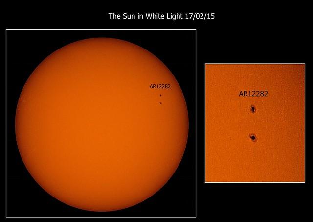 The Sun in White Light 17/02/15