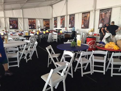 WWOZ Hospitality Tent at Jazz Fest 2016