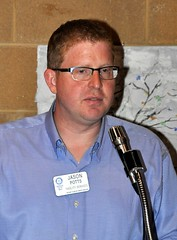 Jason Potts, is our club's President Elect Nominee and he introduced all the scholarships winners.