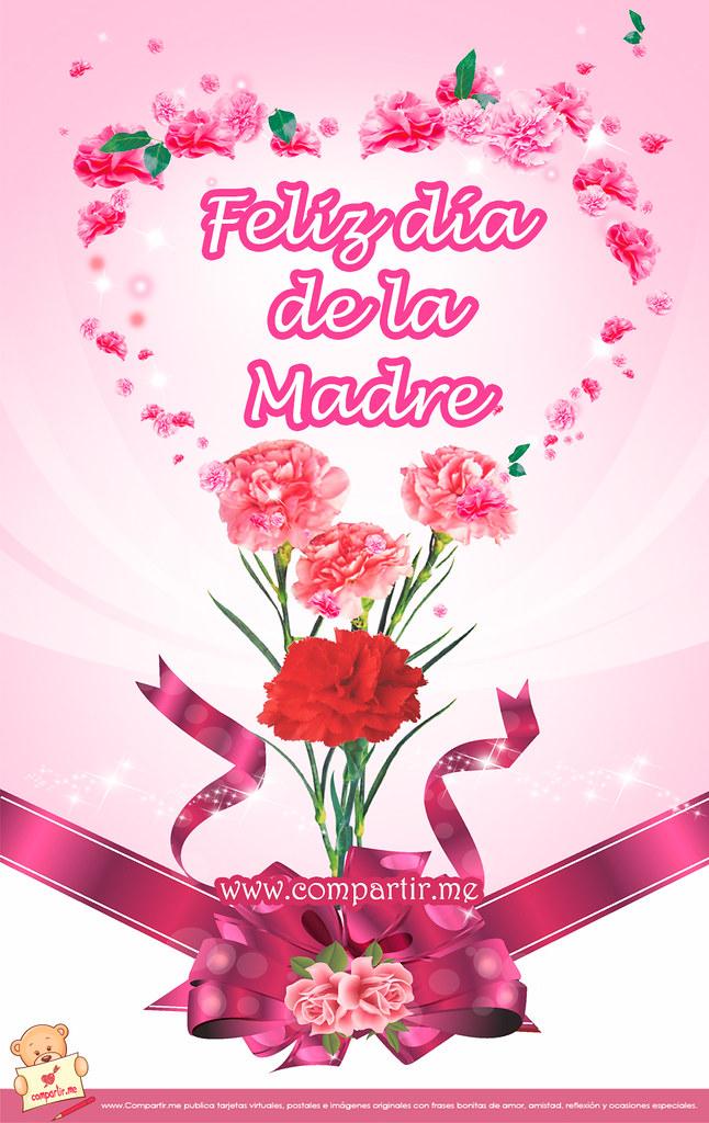 Frases De Amor Bonita Tarjeta Para El Facebook Con Flores