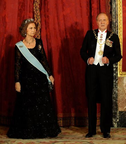 S.S.M.M. Los Reyes Sofía y Juan Carlos I de España.
