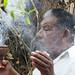 Maya Village Daykeeper Burning Copal Incense by vintagedept