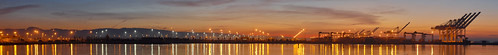 california morning winter sky panorama orange color port sunrise oakland bay nikon december large panoramic bayarea eastbay d200 stitched alamedacounty portofoakland 2013