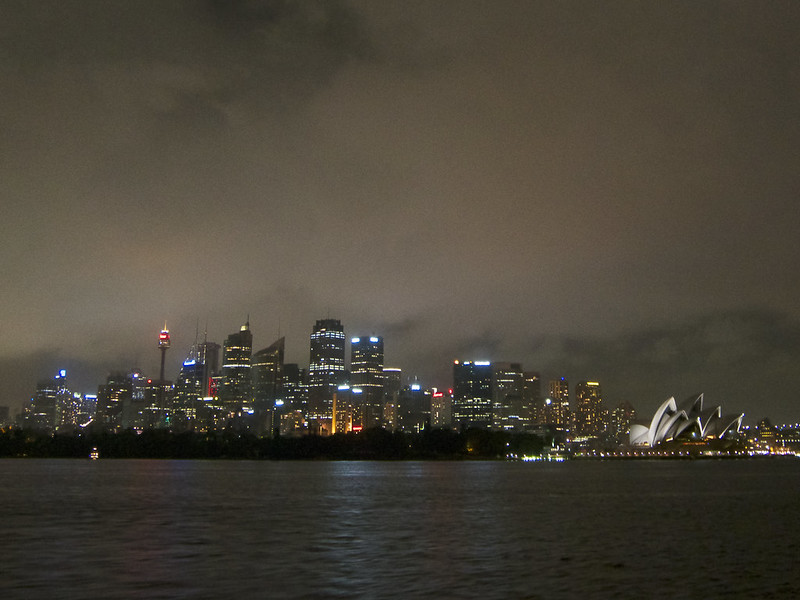 Sydney's CBD and Opera House as seen from the harbour