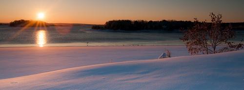 snow beach sunrise landscape wareham onset onsetbeach
