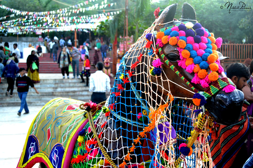 A Colorful Decorated Wooden Horse For Childrens Nikhil Parmar Flickr