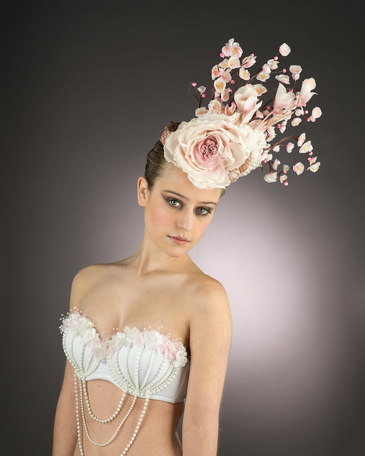 Lacey Walker glamour shot with Arturo Rios head piece
