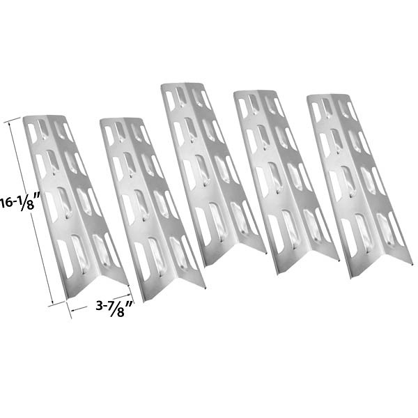Replacement Master Forge 5 Burner Gas Grill Heat Plate Stainless Steel Accessory
