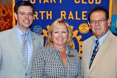L-R: President Chris Morden, Suzy Beth Sarver (publisher of 919 Magazine) and Scott McElhaney.