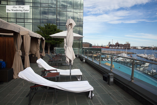 Cabanas with a view of Harbor East