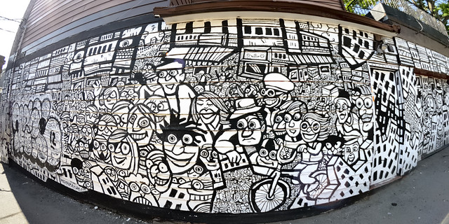 Wall art, Kensington Market, Toronto