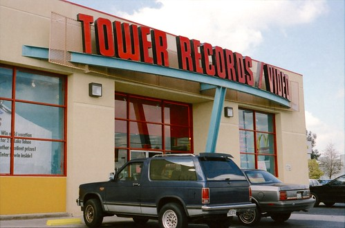 LongsGW5974Film_1997_0316_0012 North Blackstone - Tower records - Delivering Metronews Fresno CA | by niiicedave