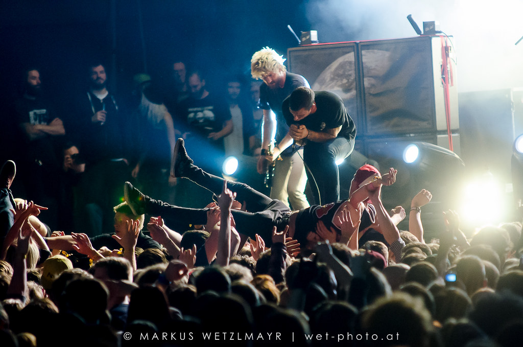 """Australian Metalcore band PARKWAY DRIVE performing live at Vans Warped Tour at Stadthalle Wien, Vienna, Austria on November 24, 2013.  NO USE WITHOUT PRIOR WRITTEN PERMISSION.  Get connected: <a href=""""http://www.facebook.com/wetphoto"""" rel=""""noreferrer nofollow"""">www.facebook.com/wetphoto</a> © Markus Wetzlmayr 