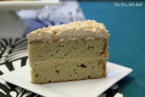matcha chestnut cake_slice | by cincinletseat