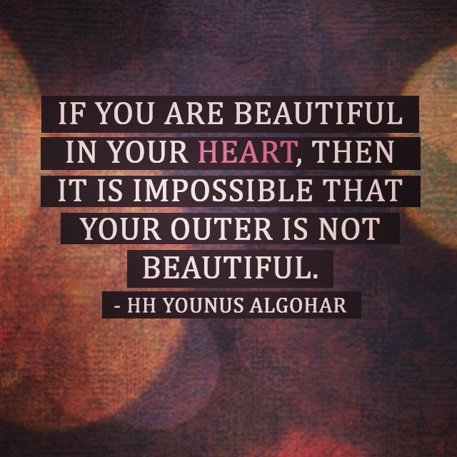 Quote of the Day: If you are beautiful in your heart...