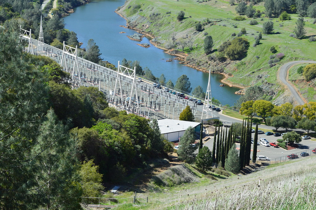 Switch Yard, Oroville Dam | This is where the electricity pr