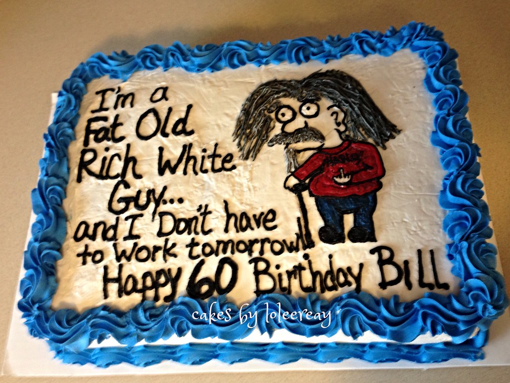 Terrific Old Man 60Th Birthday Cake Old Man 60Th Birthday Cake Han Flickr Funny Birthday Cards Online Overcheapnameinfo