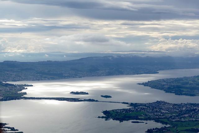 Seedamm Hurden Rapperswil Jona Lake Zurich Aerial Photo Switzerland