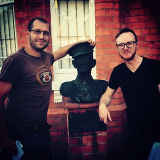 Posing with the dude who invented the Comrades (dead)   by olafmeister